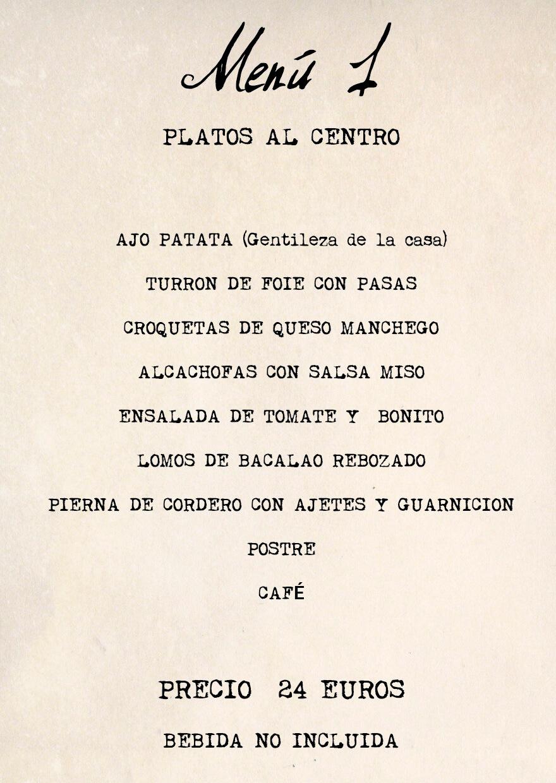 menu 1 Feria Albacete restaurante Cuerda