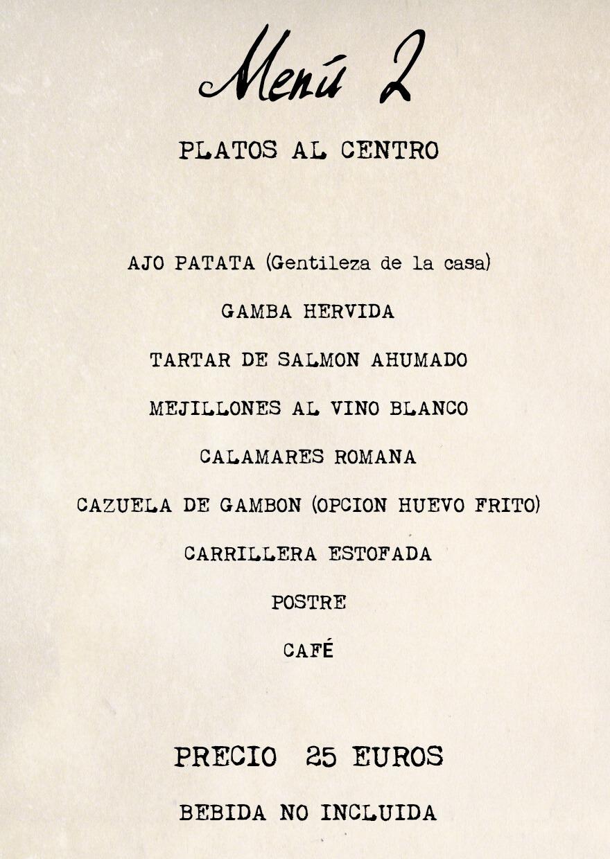 menu 2 Feria Albacete restaurante Cuerda