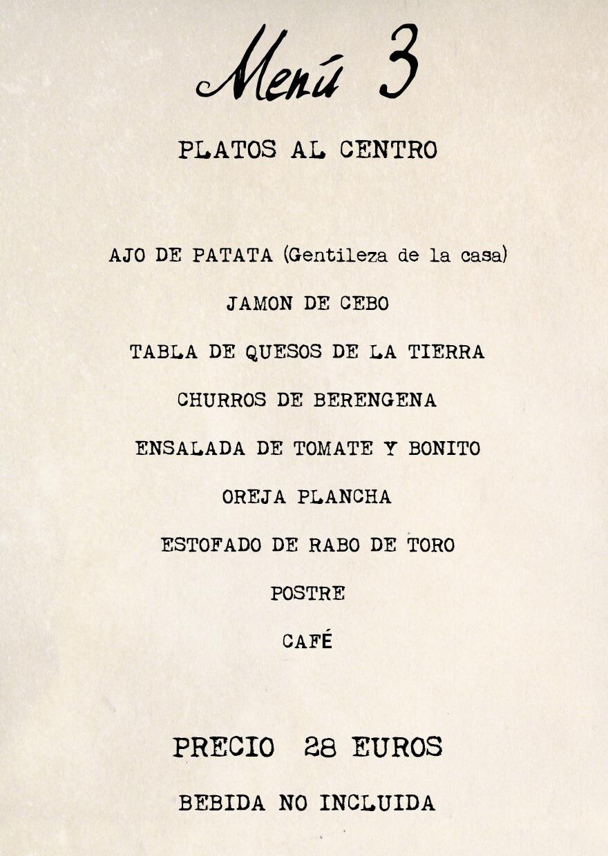 menu 3 Feria Albacete restaurante Cuerda
