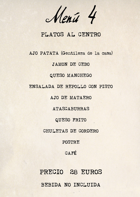 menu 4 Feria Albacete restaurante Cuerda