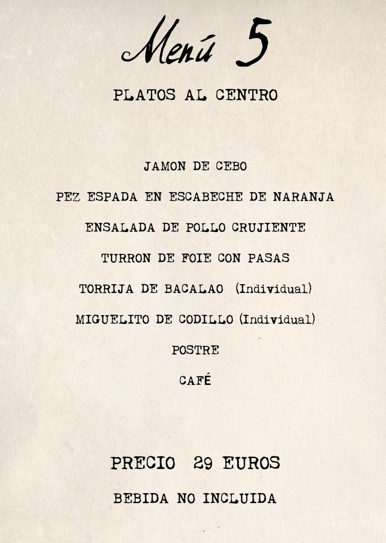 menu 5 Feria Albacete restaurante Cuerda